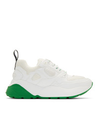 Stella McCartney White And Green Eclypse Sneakers