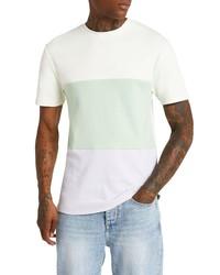 River Island Slim Fit Pastel Colorblock Cotton T Shirt