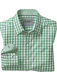 Johnston murphy tailored fit bordered gingham shirt medium 193501