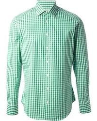 Etro Gingham Paisley Print Shirt
