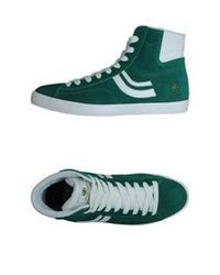 White and green high top sneakers original 9830984