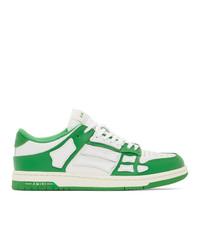 Amiri Green And White Skel Top Low Sneakers
