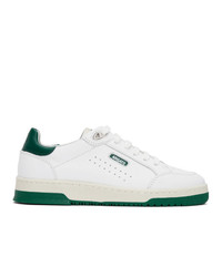 Axel Arigato White And Green Clean 180 Sneakers
