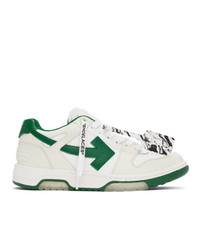 Off-White White And Green Out Of Office Sneakers