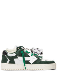 Off-White White Green Floating Arrow Sneakers