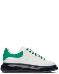 Alexander McQueen White Green Oversized Sneakers