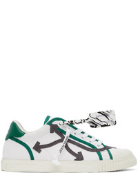 Off-White White Grey New Vulcanized Low Sneakers