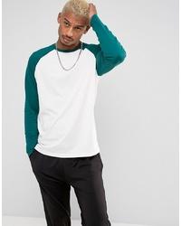 ASOS DESIGN Long Sleeve T Shirt With Contrast Raglan Sleeves