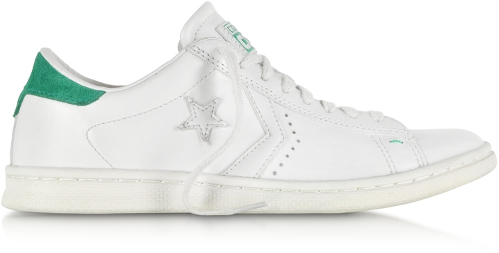 limited edition white leather converse