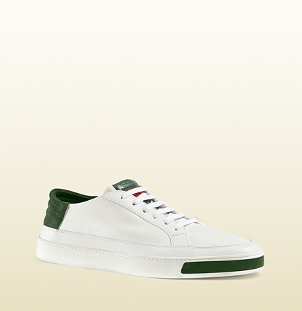 db0eec73c Gucci Leather Suede And Ayers Snake Low Top Sneaker, $550   Gucci ...