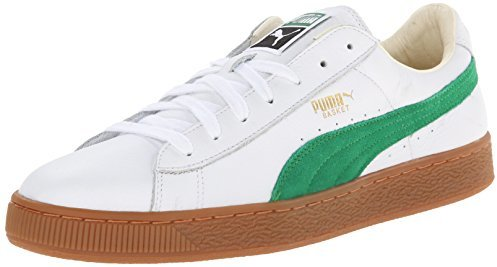 Puma Basket White Green