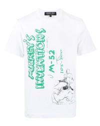 Comme des Garcons Homme Deux Comme Des Garons Homme Deux Mickeys Inventions Cotton T Shirt