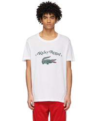 Lacoste White Ricky Regal Edition Print T Shirt
