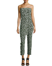 Printed strapless jumpsuit medium 239078