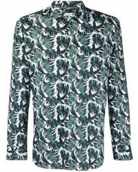 Tintoria Mattei Foliage Print Cotton Shirt