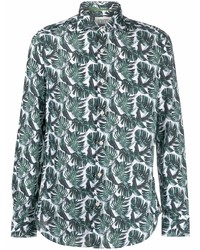 Tintoria Mattei Palm Print Long Sleeve Shirt