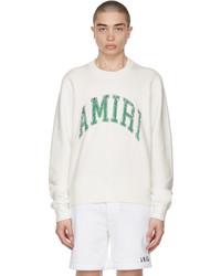 Amiri White Varsity Sweatshirt