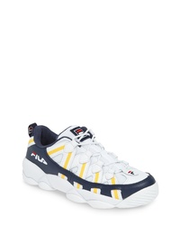 White and Navy Athletic Shoes