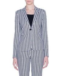 Akris Punto Soundboard Pattern Jersey Jacket