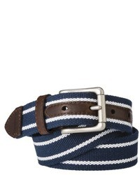 Navy and white webbing belt medium 34898