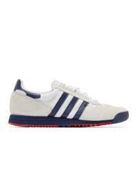 adidas Originals White And Navy Sl 80 Sneakers
