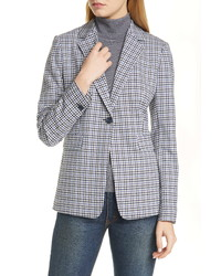 Nordstrom Signature Check Stretch Wool Jacket