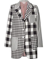 Thom Browne Oversized Printed Wool Mohair And Blazer