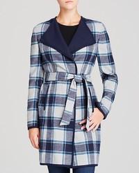Double face check coat medium 121528