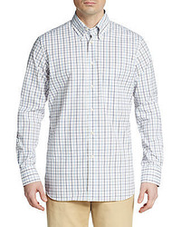 Corneliani check cotton sportshirt medium 321285