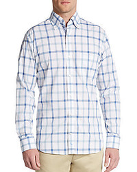 Tailorbyrd anaheim check cotton sportshirt medium 321254