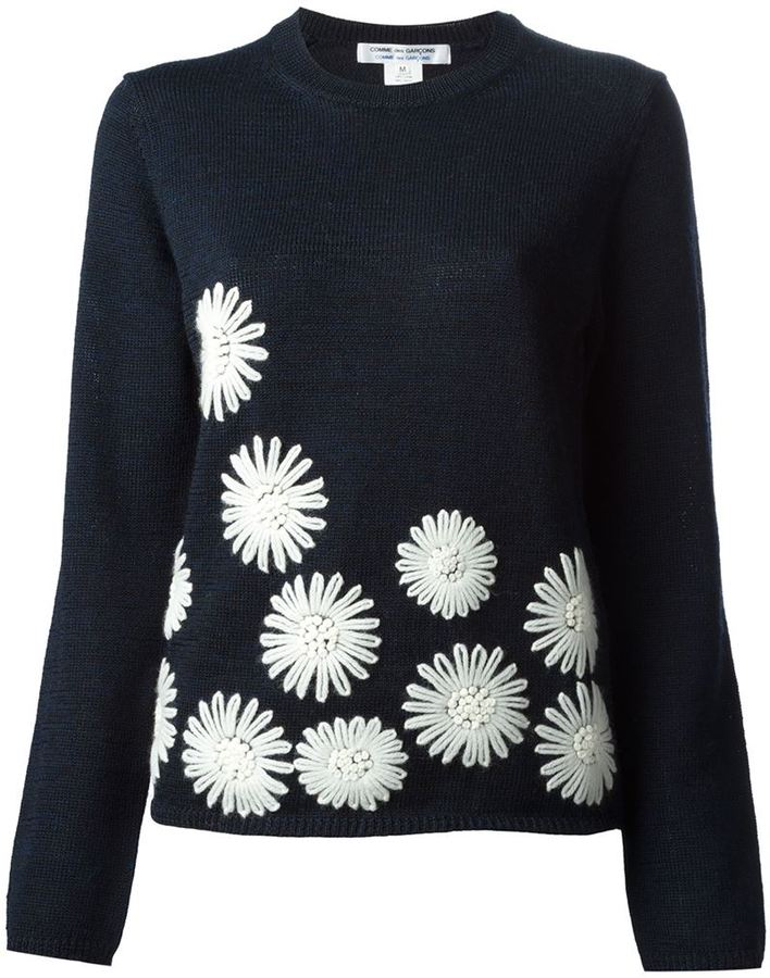 Low Price Fee Shipping For Sale Buy Cheap Clearance Comme Des Garçons Comme Des Garçons embroidered lace jumper Outlet Browse Outlet 2018 New Sale New Arrival hwGWl