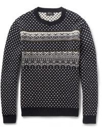 A.P.C. Fair Isle Merino Wool Sweater