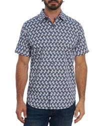 Robert Graham Avory Regular Fit Floral Short Sleeve Button Up Shirt