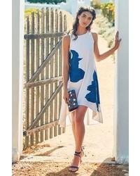 Anthropologie ranna gill embroidered bluebell dress medium 268691