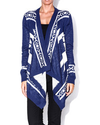 Andree aztec hi lo cardigan medium 132422