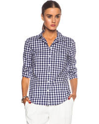 Band Of Outsiders Classic Gingham Easy Cotton Shirt
