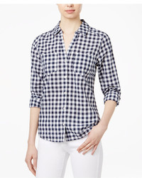 Maison Jules Cotton Gingham Shirt Created For Macys