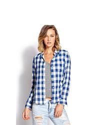 Forever 21 Gingham Plaid Shirt