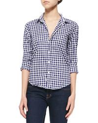 Frank Eileen Long Sleeve Cotton Gingham Shirt