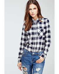 Forever 21 Gingham Button Down Shirt