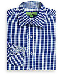 Regular Fit Gingham Cotton Dress Shirt