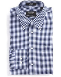 Shop trim fit non iron gingham dress shirt medium 423928