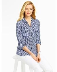 Talbots Gingham Checks Linen Shirt
