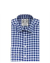Thomas Pink Plato Check Super Slim Fit Button Cuff Shirt