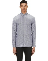 DSquared 2 Blue Gingham Check Button Down Shirt