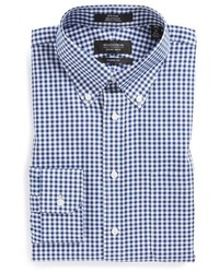 Big tall shop classic fit non iron gingham dress shirt medium 662233