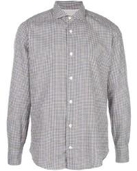 Eleventy Check Slim Fit Shirt
