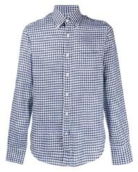 Canali Checked Linen Shirt