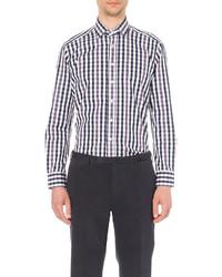 Etro Jacquard Paisley Regular Fit Cotton Shirt