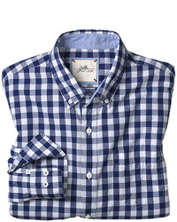 Johnston & Murphy Slim Fit Washed Gingham Check Shirt